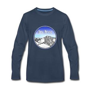 Ben Nevis Mountain - Men's Premium Long Sleeve T-Shirt