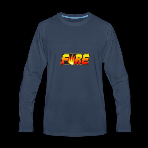 FyRe Logo - Men's Premium Long Sleeve T-Shirt