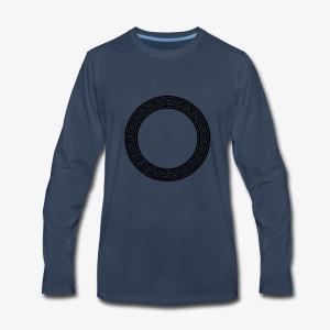 Royal Abstract Circle - Men's Premium Long Sleeve T-Shirt