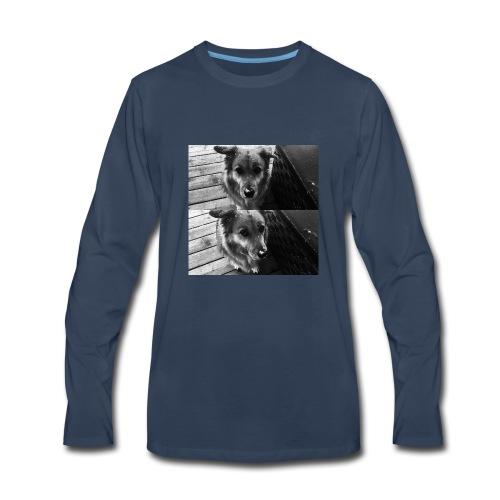 snow dog - Men's Premium Long Sleeve T-Shirt