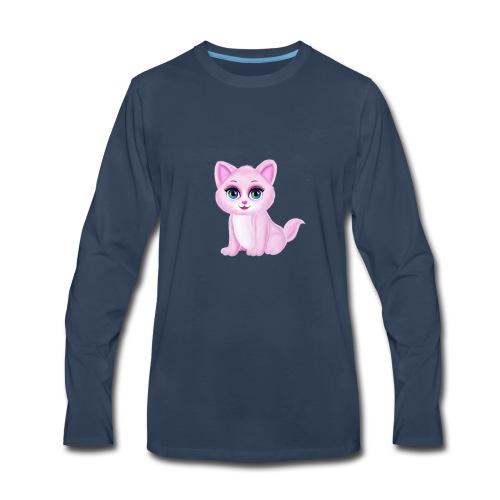 Cute Kitty Cat - Men's Premium Long Sleeve T-Shirt