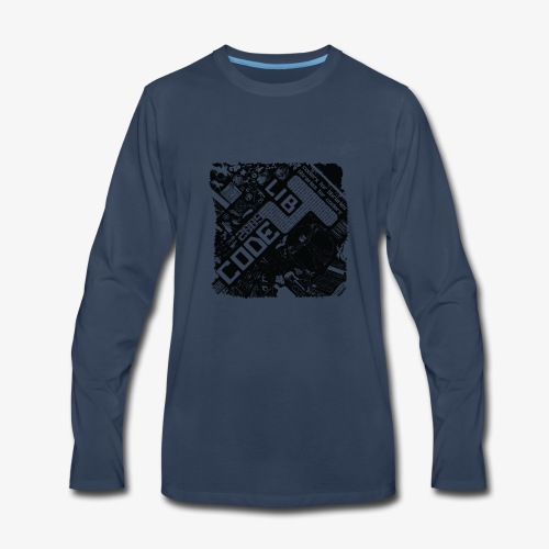 the whole world is code - Men's Premium Long Sleeve T-Shirt