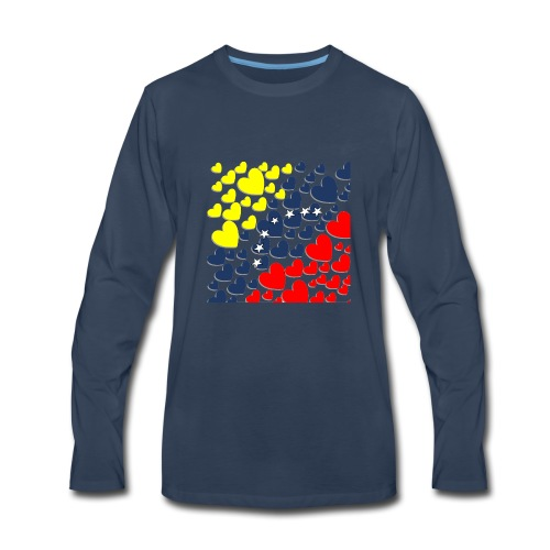 Venezuela´s Flag in heart - Men's Premium Long Sleeve T-Shirt