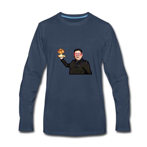 bomb man kim jong un - Men's Premium Long Sleeve T-Shirt
