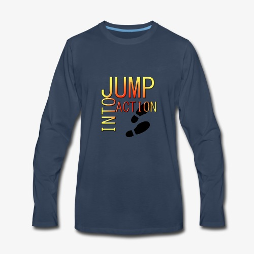 Jump into action - Men's Premium Long Sleeve T-Shirt