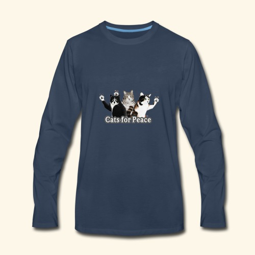 Cats for peace - Men's Premium Long Sleeve T-Shirt
