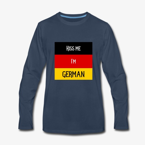 Kiss me I'm German - Men's Premium Long Sleeve T-Shirt