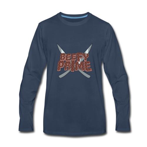 Beefy Prime logo knives - Men's Premium Long Sleeve T-Shirt