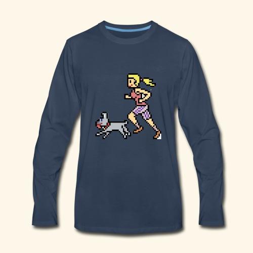 RunWithPixel - Men's Premium Long Sleeve T-Shirt