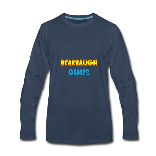 Bearbaugh Text Front - Men's Premium Long Sleeve T-Shirt