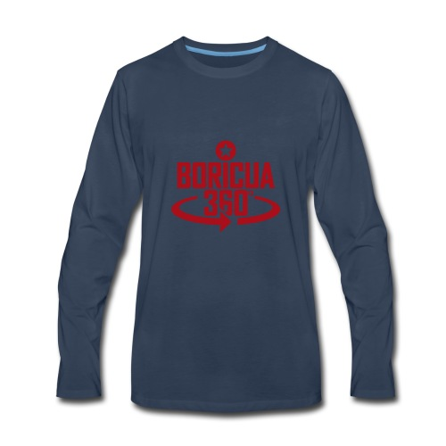 Boricua 360 red - Men's Premium Long Sleeve T-Shirt