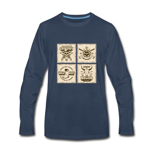 American Cowboy Rodeo Show Wild West Collection - Men's Premium Long Sleeve T-Shirt