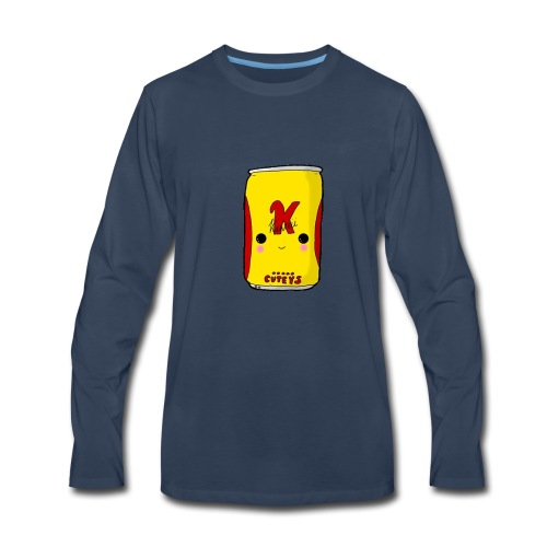 Kawaii Cute Tennants Lager Can - Men's Premium Long Sleeve T-Shirt