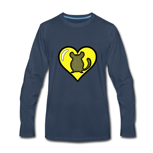 Yellow Chinchilla Heart - Men's Premium Long Sleeve T-Shirt