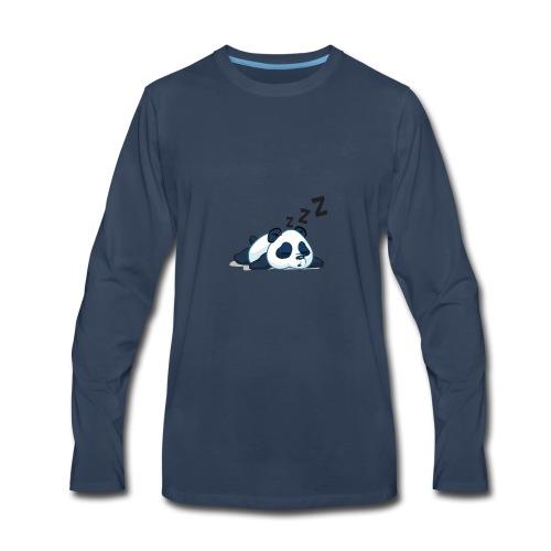 Funny sleeping panda - Men's Premium Long Sleeve T-Shirt