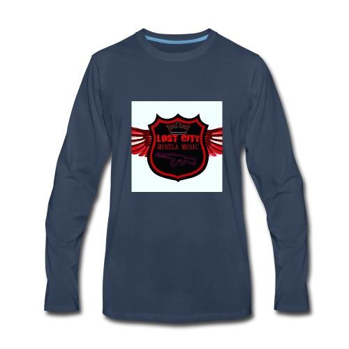 Hustle logo - Men's Premium Long Sleeve T-Shirt