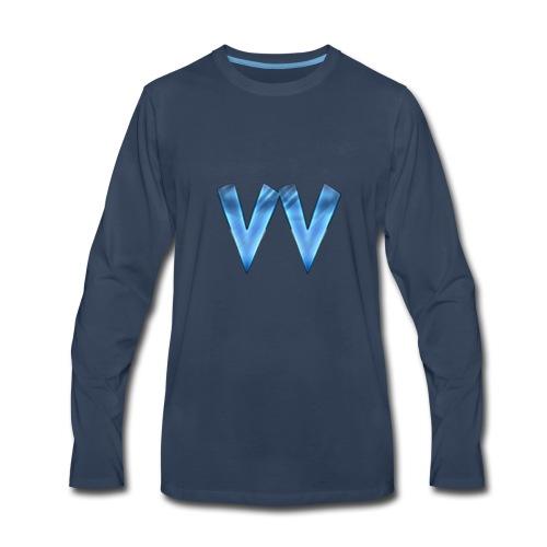 DOUBLE V (TRANSPARENT BACKGROUND) - Men's Premium Long Sleeve T-Shirt