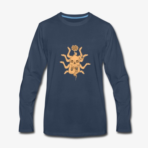Snake skull sun - Men's Premium Long Sleeve T-Shirt