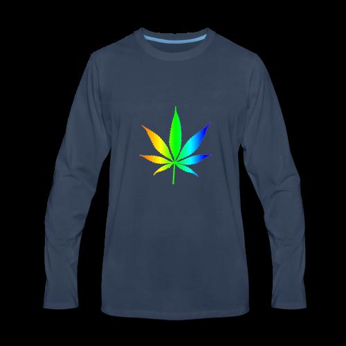 Rainbow Leaf - Men's Premium Long Sleeve T-Shirt