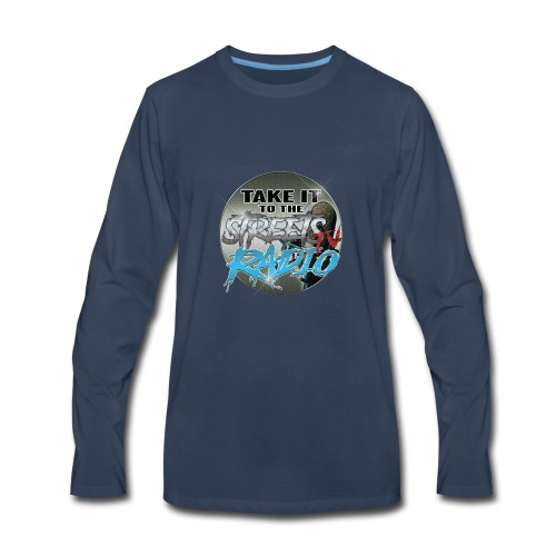 Takeit tothe streets cirlce logo - Men's Premium Long Sleeve T-Shirt