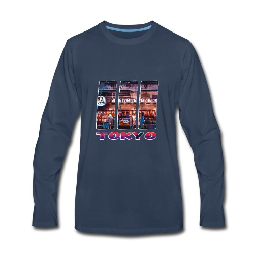 Tokyo Japan Nightlife Purple - Men's Premium Long Sleeve T-Shirt