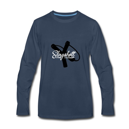 Exclusive Slingshott Logo - Men's Premium Long Sleeve T-Shirt