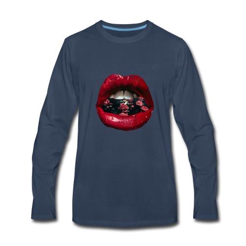 Lips N Roses - Men's Premium Long Sleeve T-Shirt