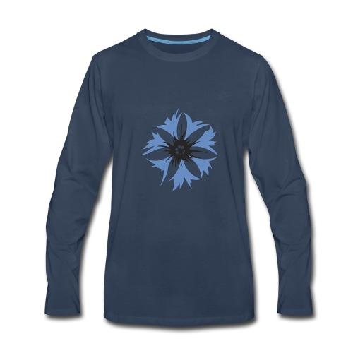 Prussian cornflower, steuben parade - Men's Premium Long Sleeve T-Shirt