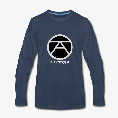 AudioKritik Icon with name - Men's Premium Long Sleeve T-Shirt