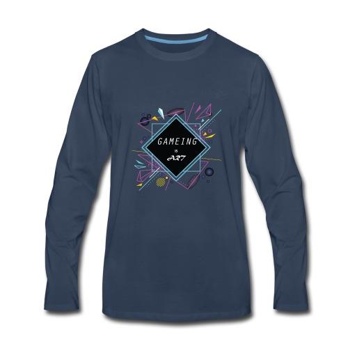 gameing is art - Men's Premium Long Sleeve T-Shirt