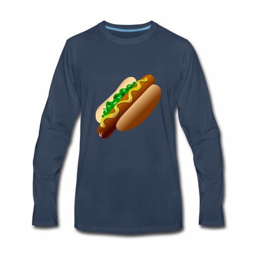 Just a Hot Dog Shirt - Men's Premium Long Sleeve T-Shirt