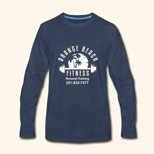 Orange Beach Fitness White Personal Training - Men's Premium Long Sleeve T-Shirt