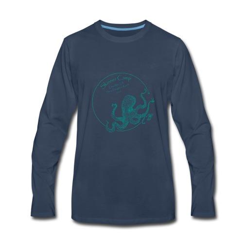 Skinner Camp - Teal Logo - Men's Premium Long Sleeve T-Shirt