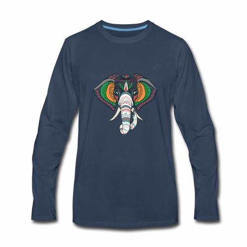 H&F Market high beautiful coloured elephant design - Men's Premium Long Sleeve T-Shirt