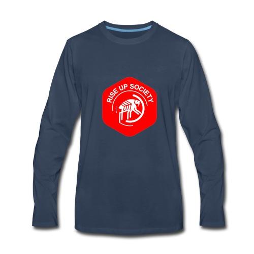 Rise Up Society Logo - Men's Premium Long Sleeve T-Shirt
