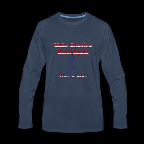Make America Great...circa 1491 - Men's Premium Long Sleeve T-Shirt