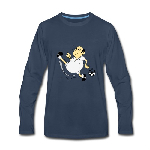 football soccer funny humorous miss - Men's Premium Long Sleeve T-Shirt