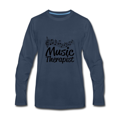 04 music therapist copy - Men's Premium Long Sleeve T-Shirt