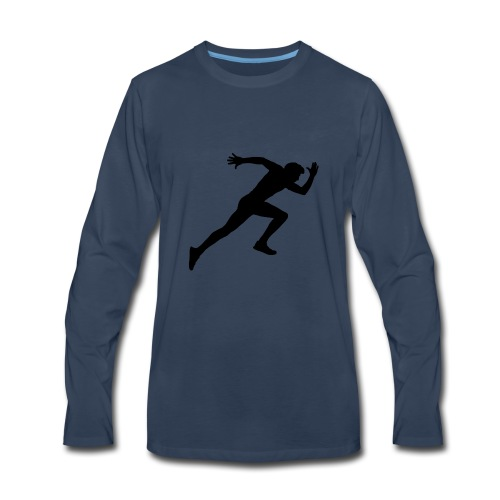 hurry up runner - Men's Premium Long Sleeve T-Shirt