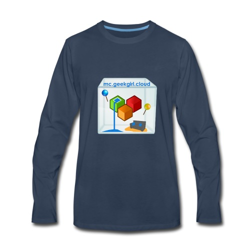 geekgirl.cloud logo - Men's Premium Long Sleeve T-Shirt