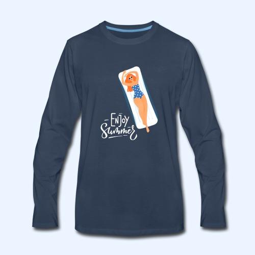 Enjoy Summer - Men's Premium Long Sleeve T-Shirt