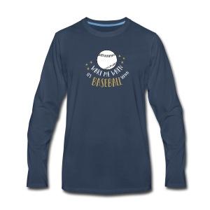 Wake Me When It's Baseball Season - Men's Premium Long Sleeve T-Shirt