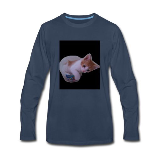 kitten explorer - Men's Premium Long Sleeve T-Shirt