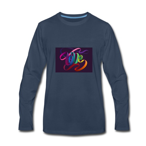 Love swirls - Men's Premium Long Sleeve T-Shirt