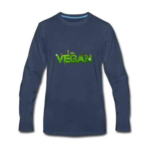 I am Vegan - Men's Premium Long Sleeve T-Shirt