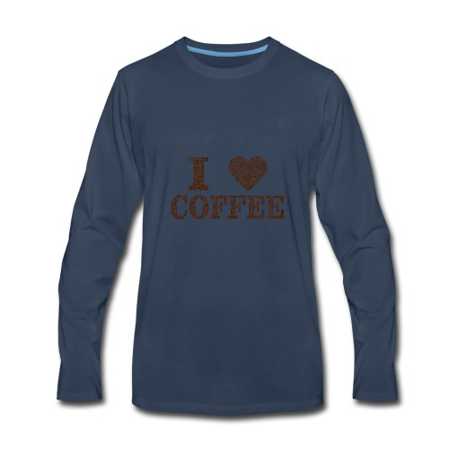 I Love Coffee - Men's Premium Long Sleeve T-Shirt