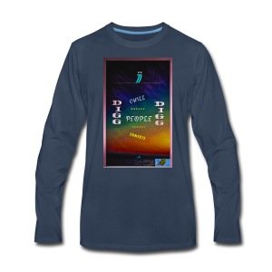 I dig Chill People, Sunsets & Bud.. - Men's Premium Long Sleeve T-Shirt