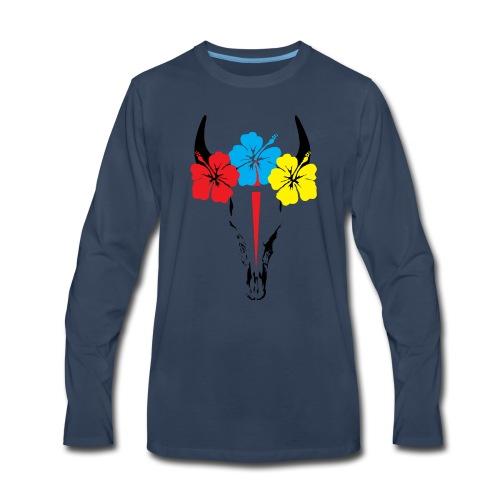 Bison skull - Men's Premium Long Sleeve T-Shirt