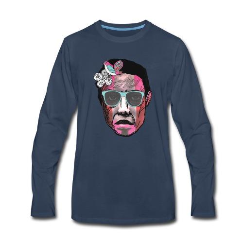Face with Stripes - Men's Premium Long Sleeve T-Shirt