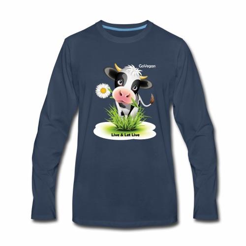 Live & Let Live Cow - Men's Premium Long Sleeve T-Shirt